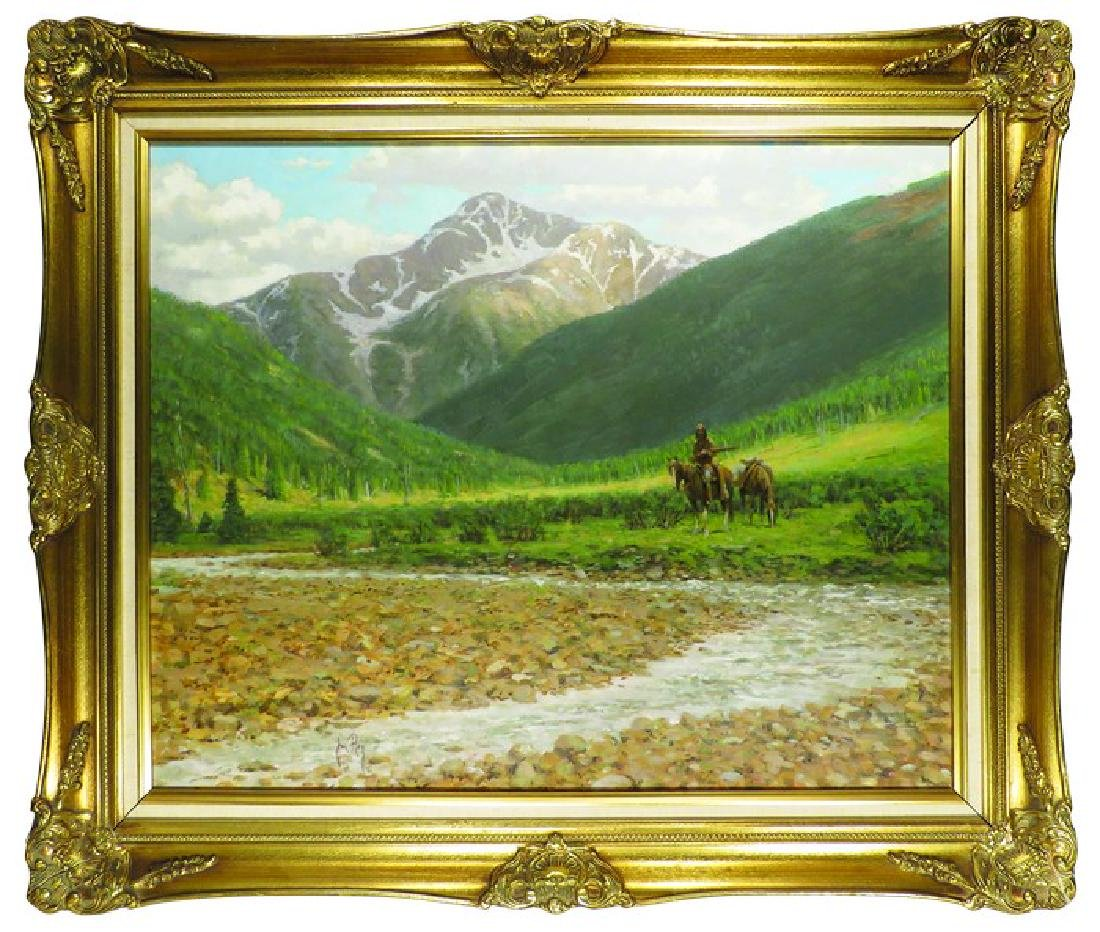 Oil on Canvas Painting by Jim Rey Western Artist