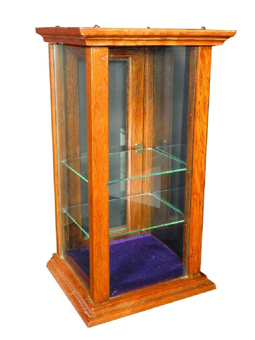 Oak and Glass Gum Display Case