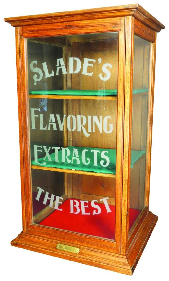 Slade's Flavoring Extracts Store Display Cabinet