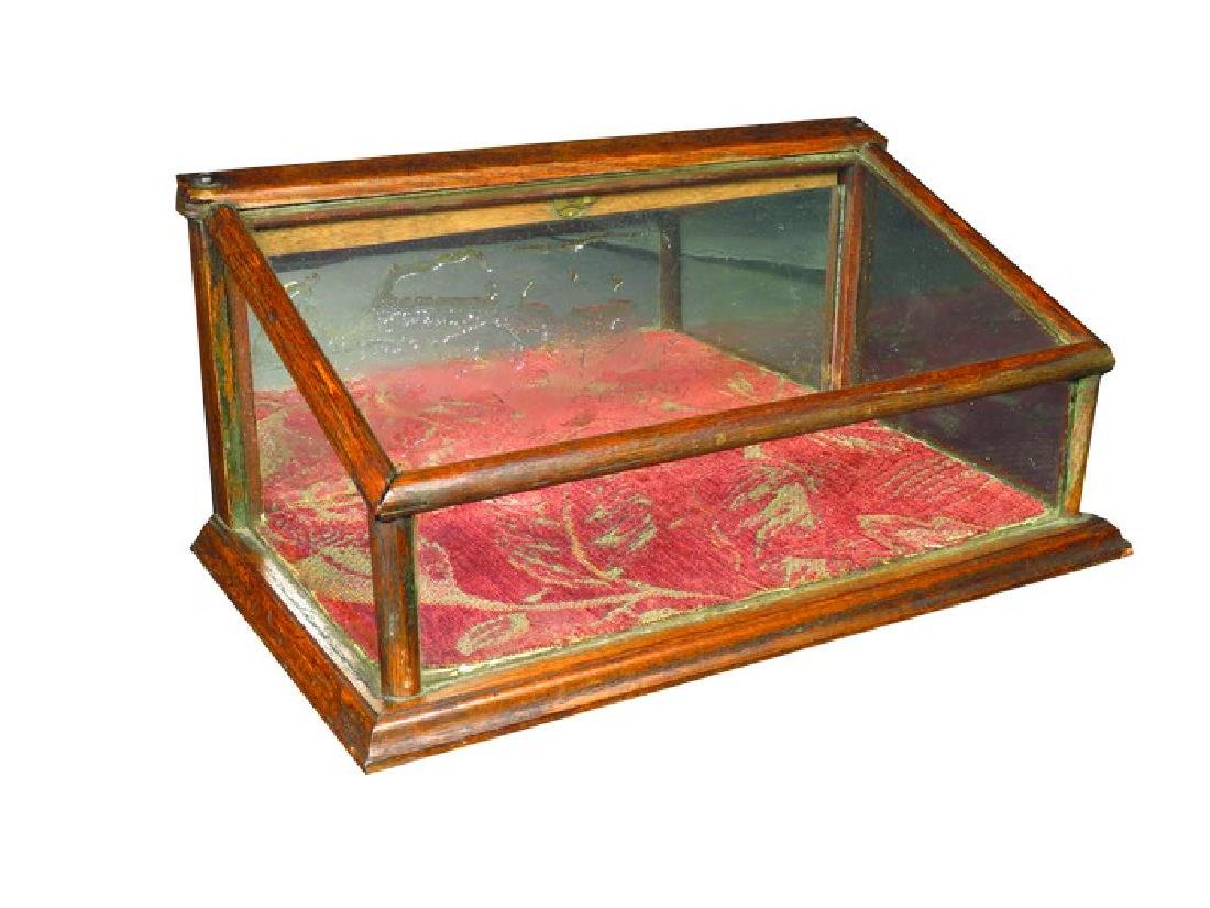 Slant Front Counter Top Store Display Case