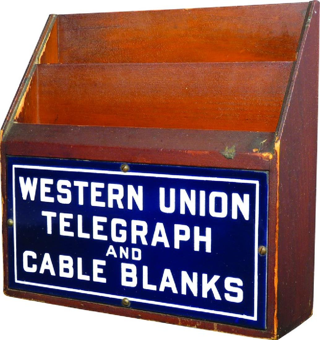 Western Union Telegraph & Cable Forms Holder