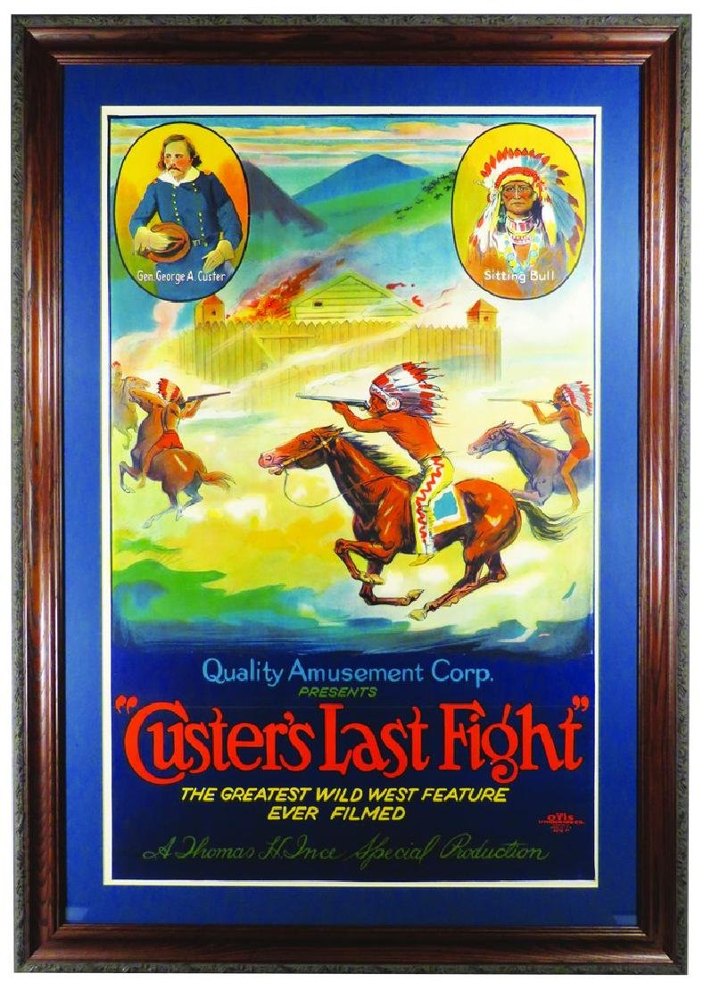 Custer's Last Fight Wild West Entertainment Poster