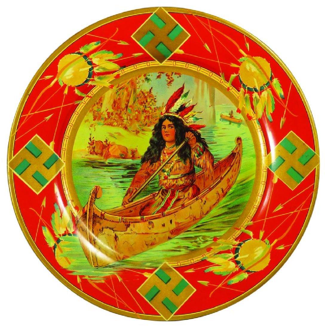 Vienna Art Plate Native American Image