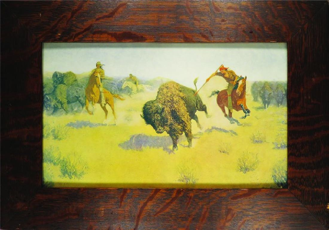 Frederic Remington Buffalo Hunt Print