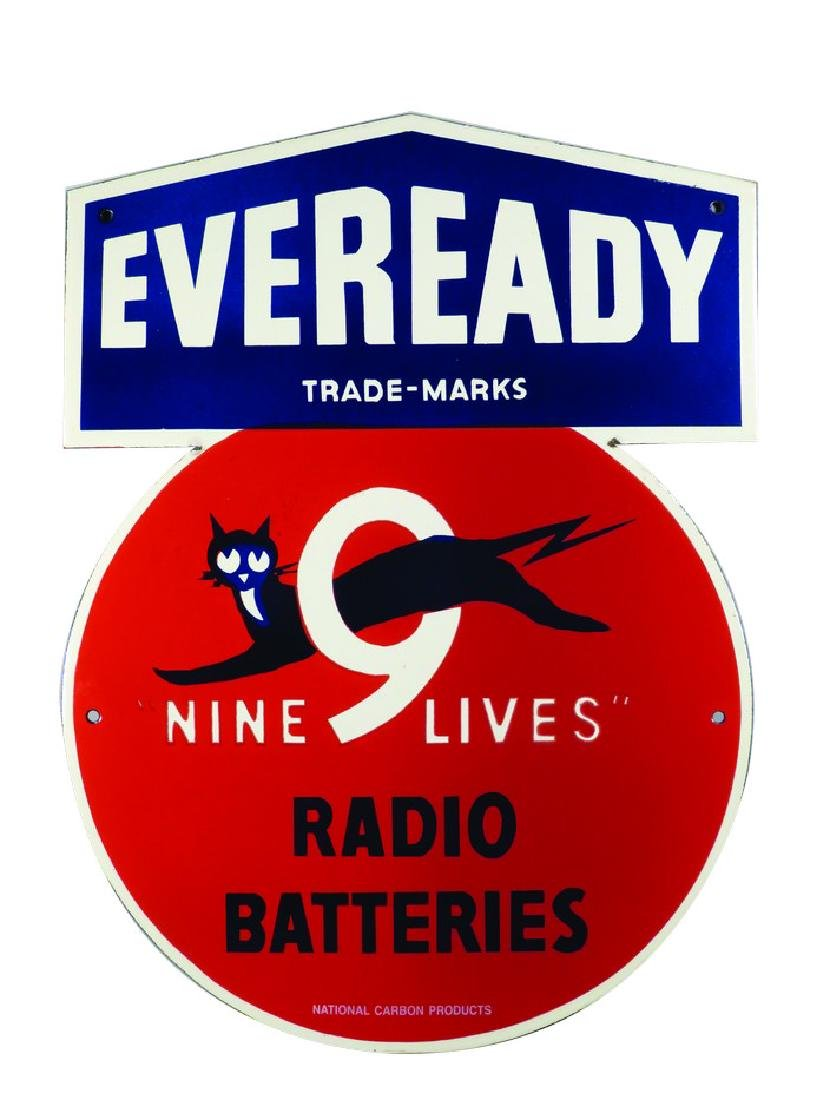 Eveready Radio Batteries Porcelain Sign