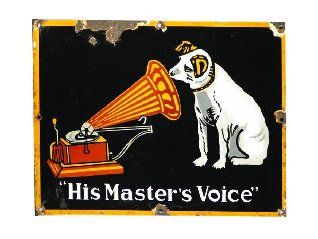 """The Master's Voice"" Porcelain Sign"