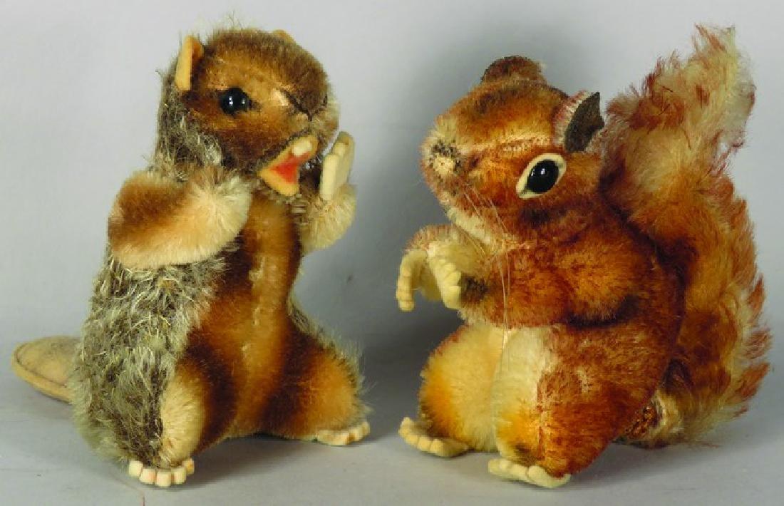 Two Vintage Original Steiff Animals
