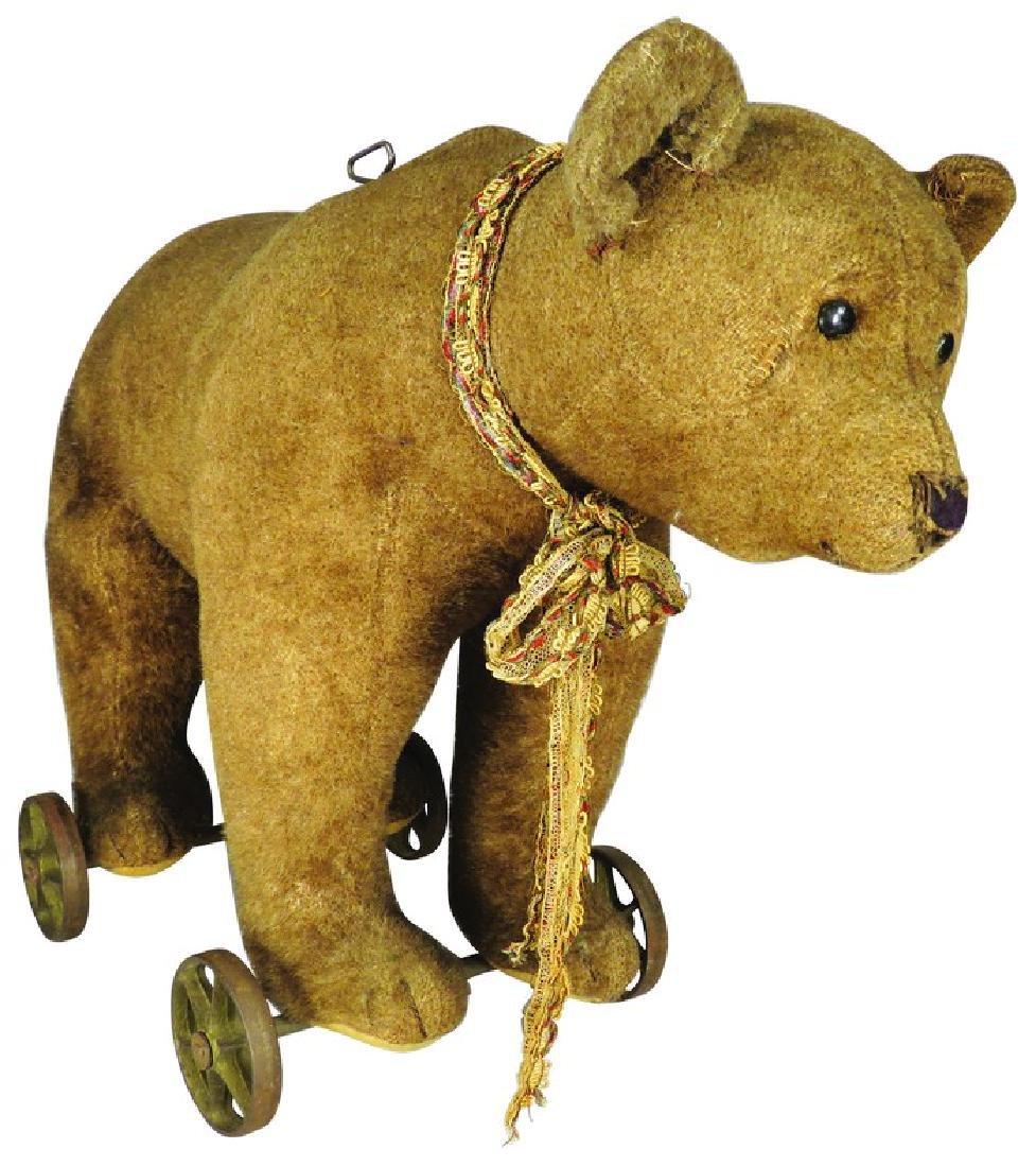 Antique Steiff Bear Pull Toy