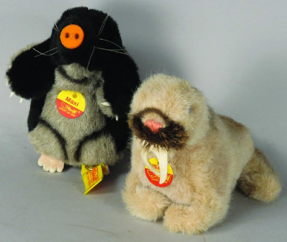 Two Original Steiff Stuffed Animals