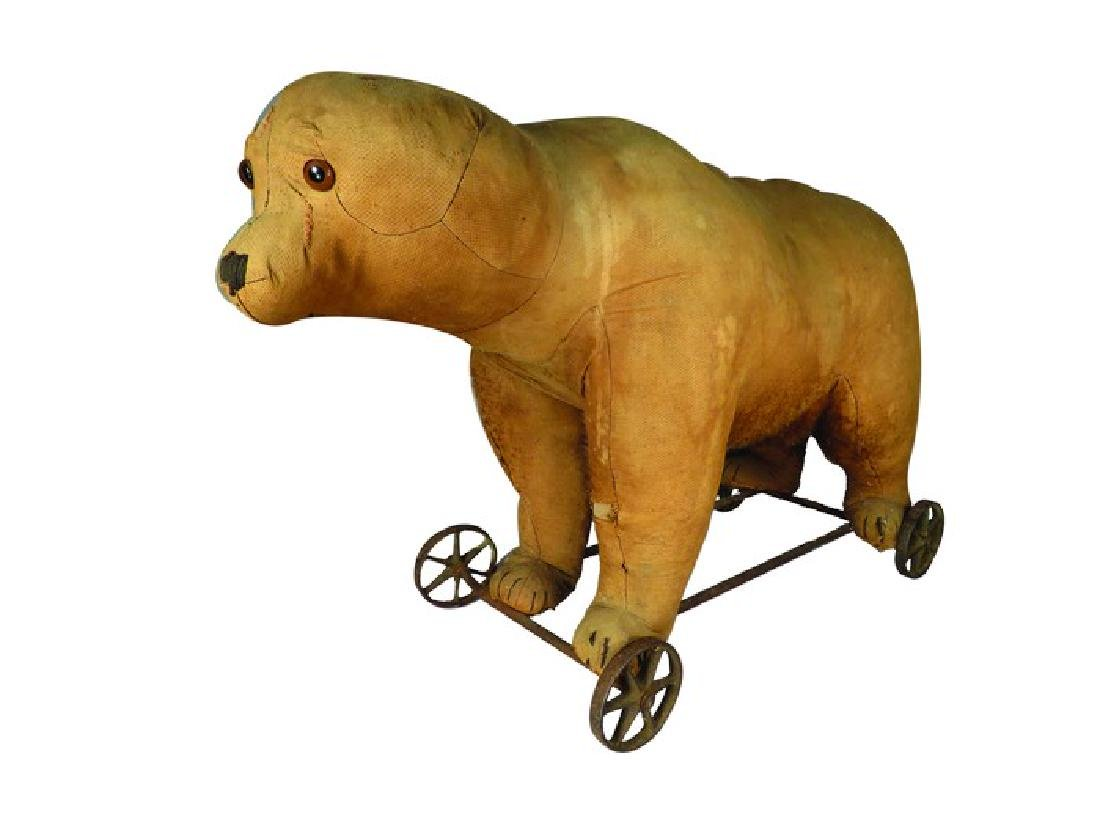 Large Antique Steiff Bear Pull Toy