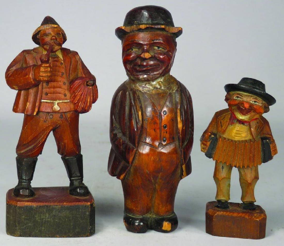 Three German Carved Wood Figures