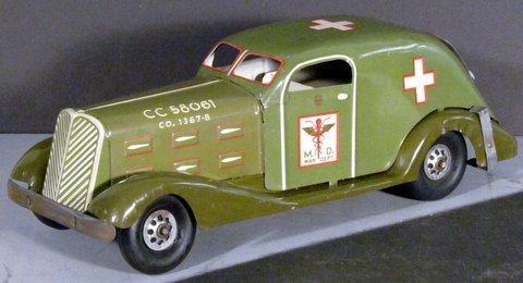 1940's Louis Marx Tin War Department Abulance