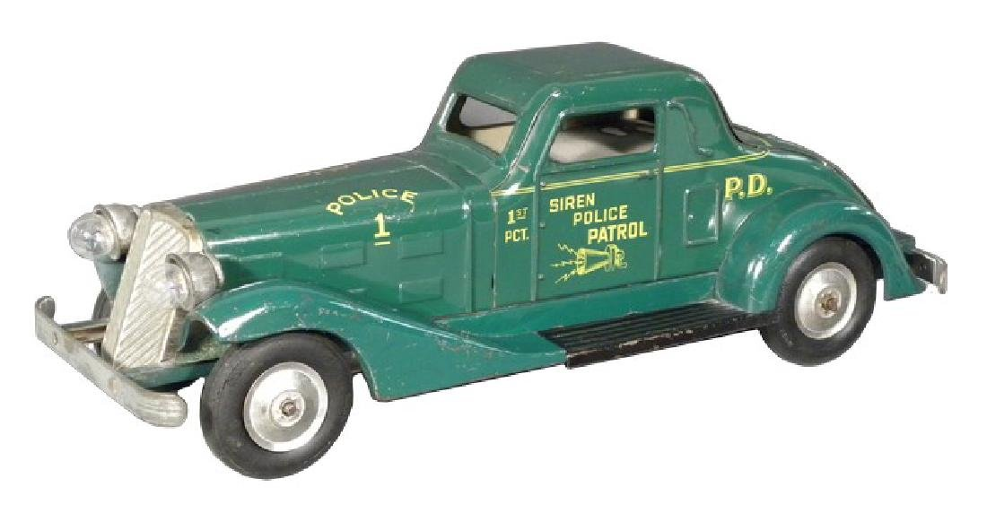 Rare 1940's Louis Marx Tin Siren Police Patrol