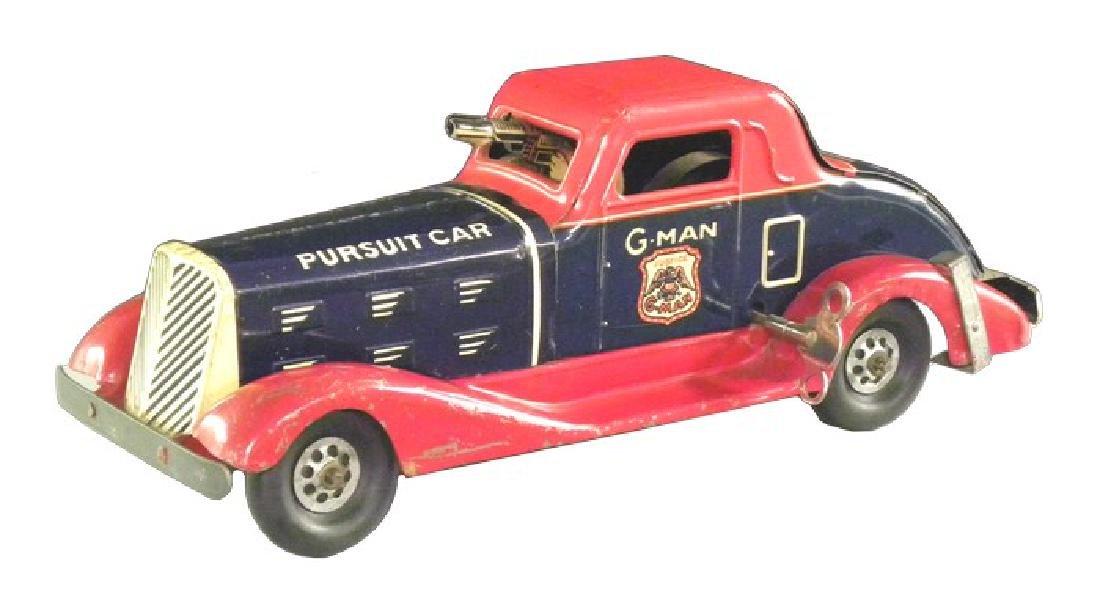 Rare 1940's Louis Marx Tin G-Man