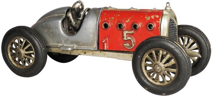"Cast iron toy racing car ""5"""