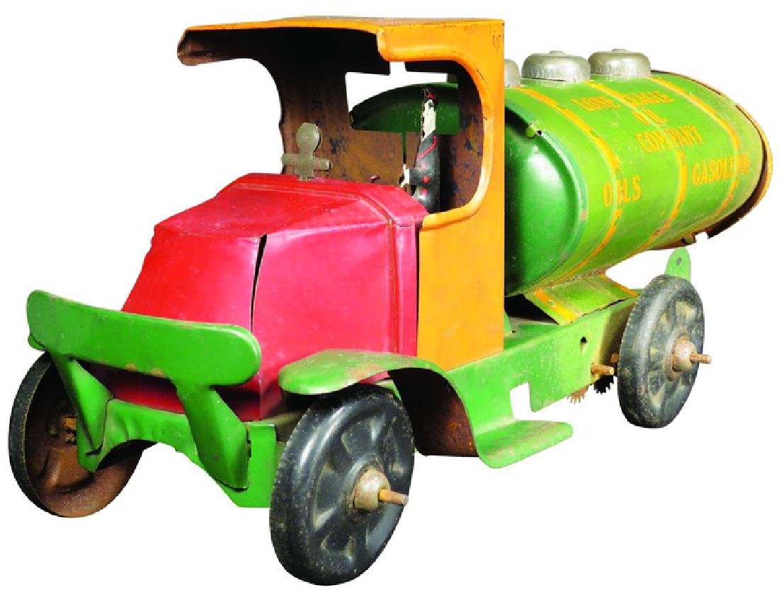 Tin toy truck for Lone Eagle Oil Co. by Marx Toys