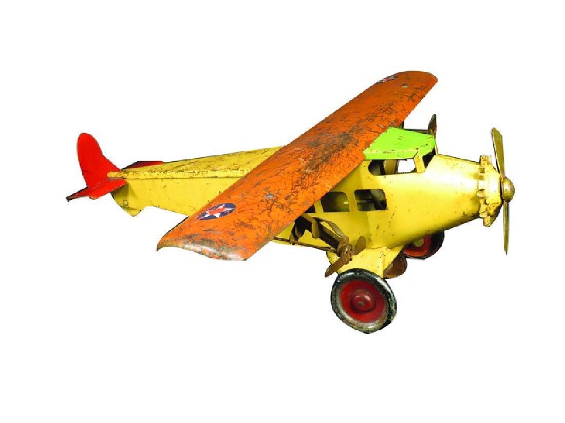 Pressed Steel Army Airplane Toy