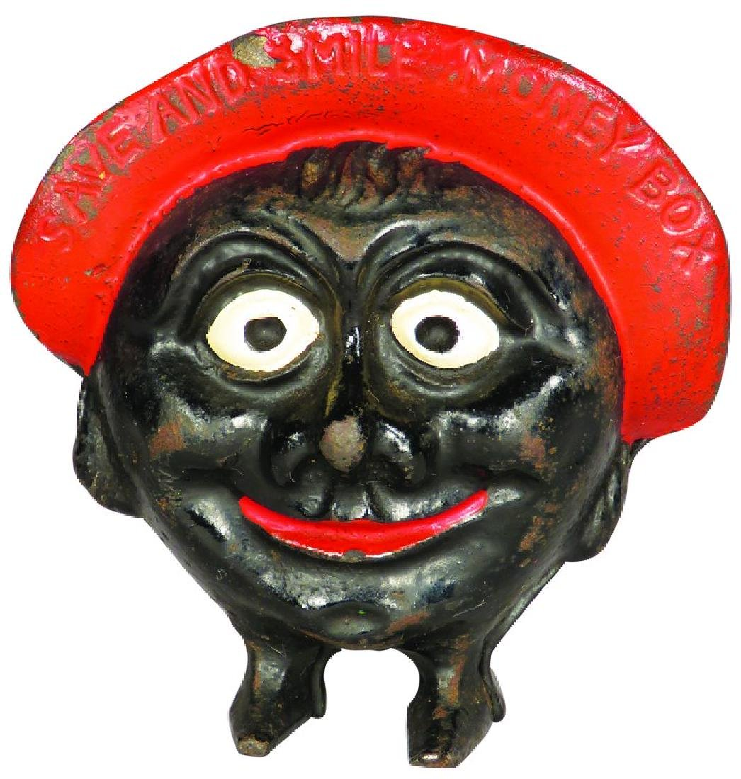 Save and Smile Money Cast Iron Still Bank