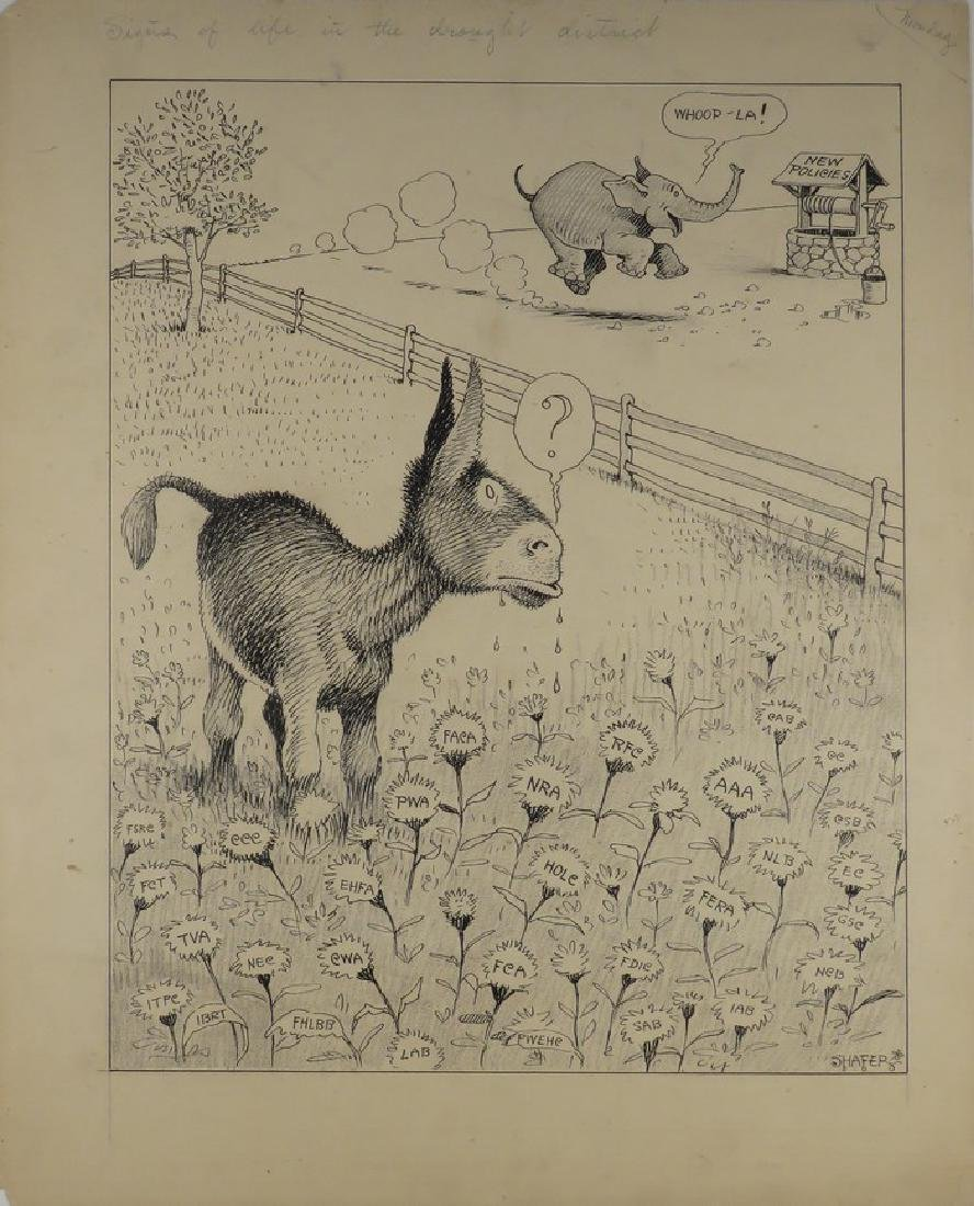 Claude Shafer (1878-1962) Political Cartoons