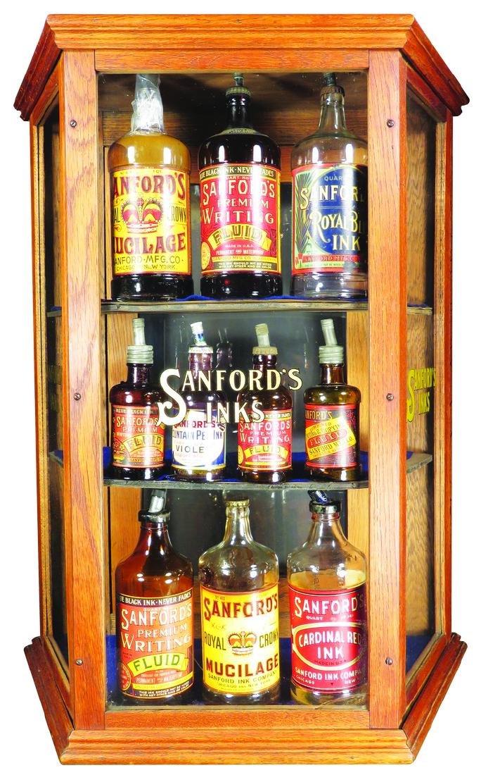 Sanford's Ink Slanted Side Store Display Case