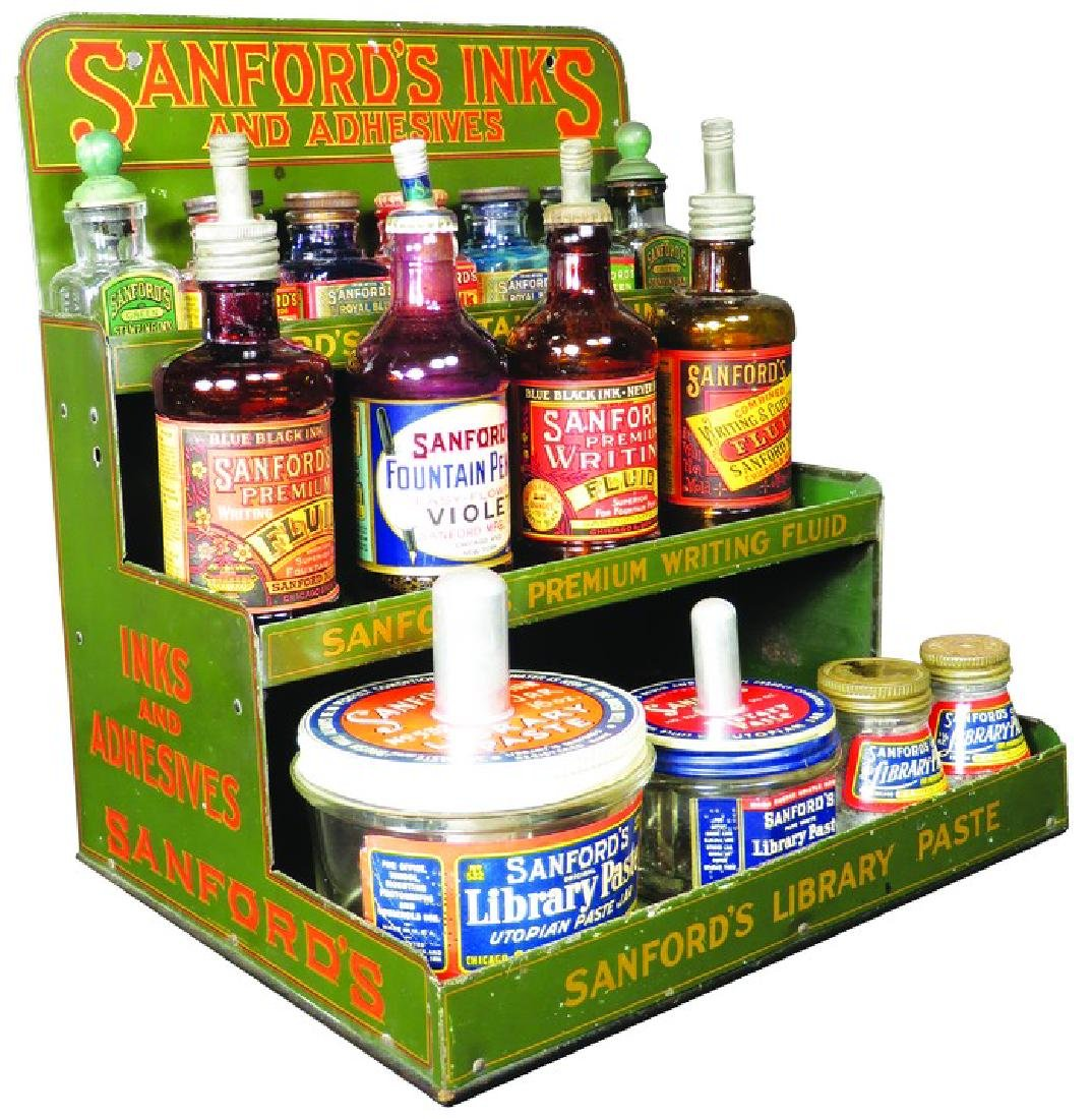 Sanford's Inks and Adhesives Tin Store Display