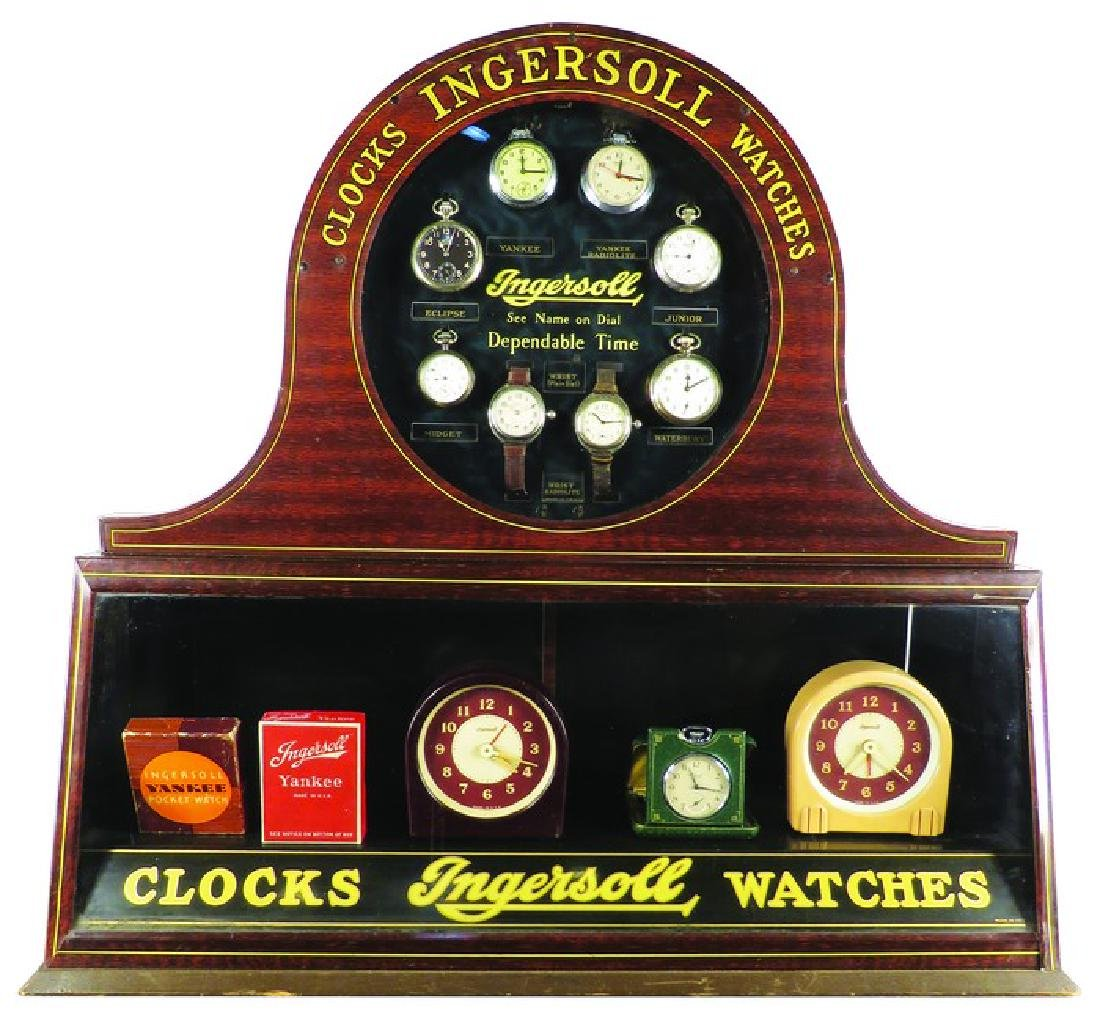 Rare Ingersoll Watch and Clock Tin Store Display