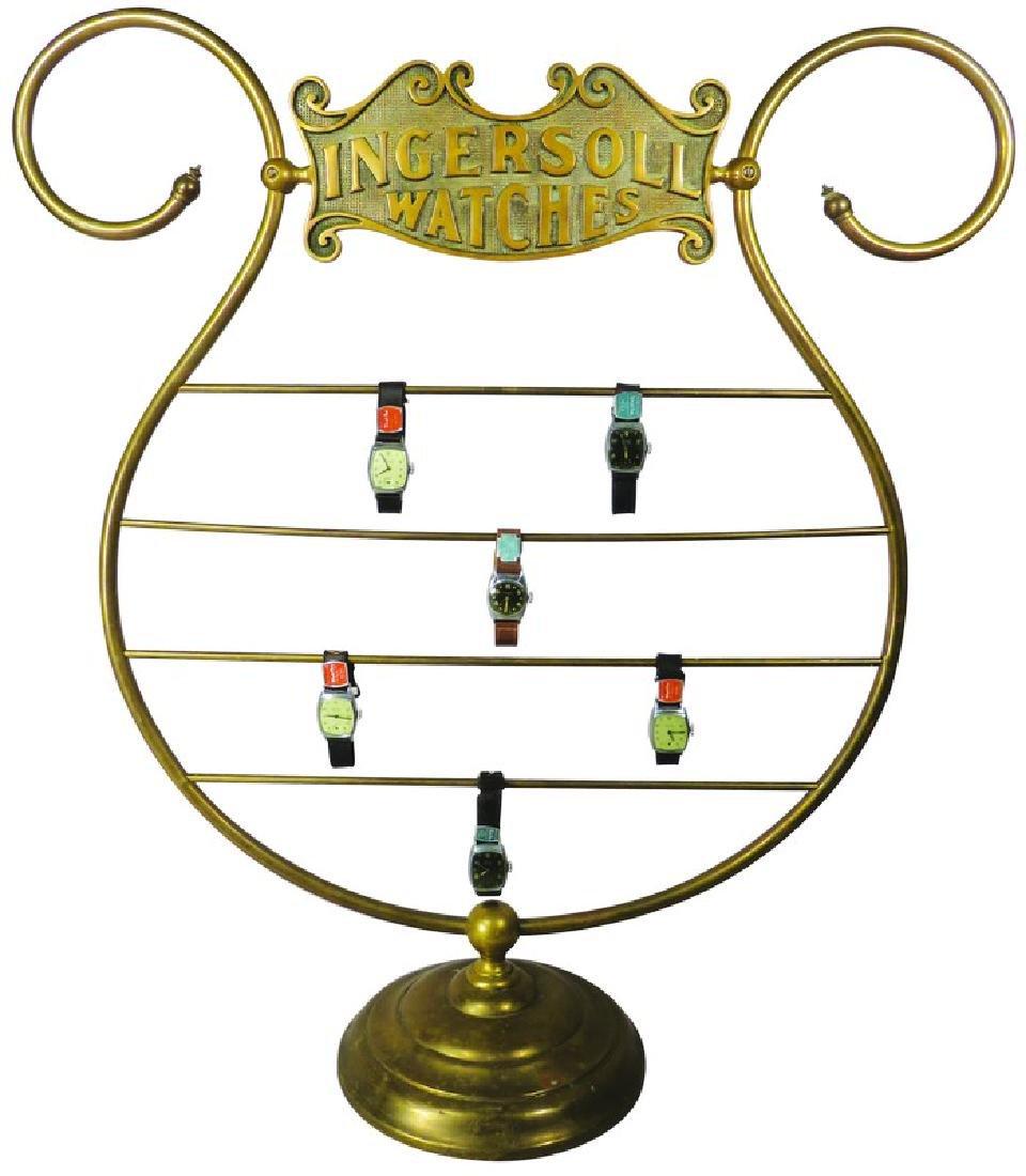 Rare Ingersoll Watch Brass Store Display