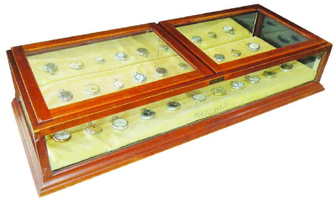 Ingersoll Watches Etched Glass Store Counter Case