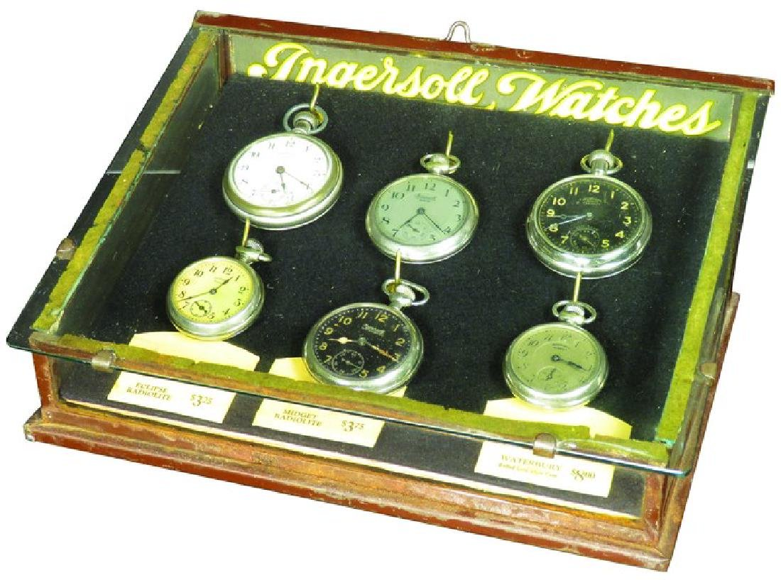 Ingersoll Watches Glass and Tin Store Display