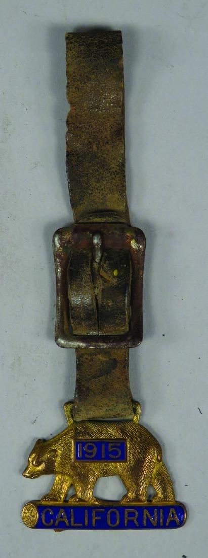 1915 California Bear Enameled Watch Fob