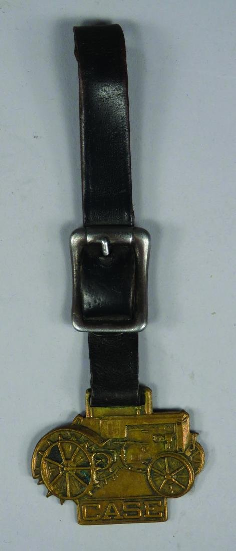 Case Tractors Embossed Brass Watch Fob