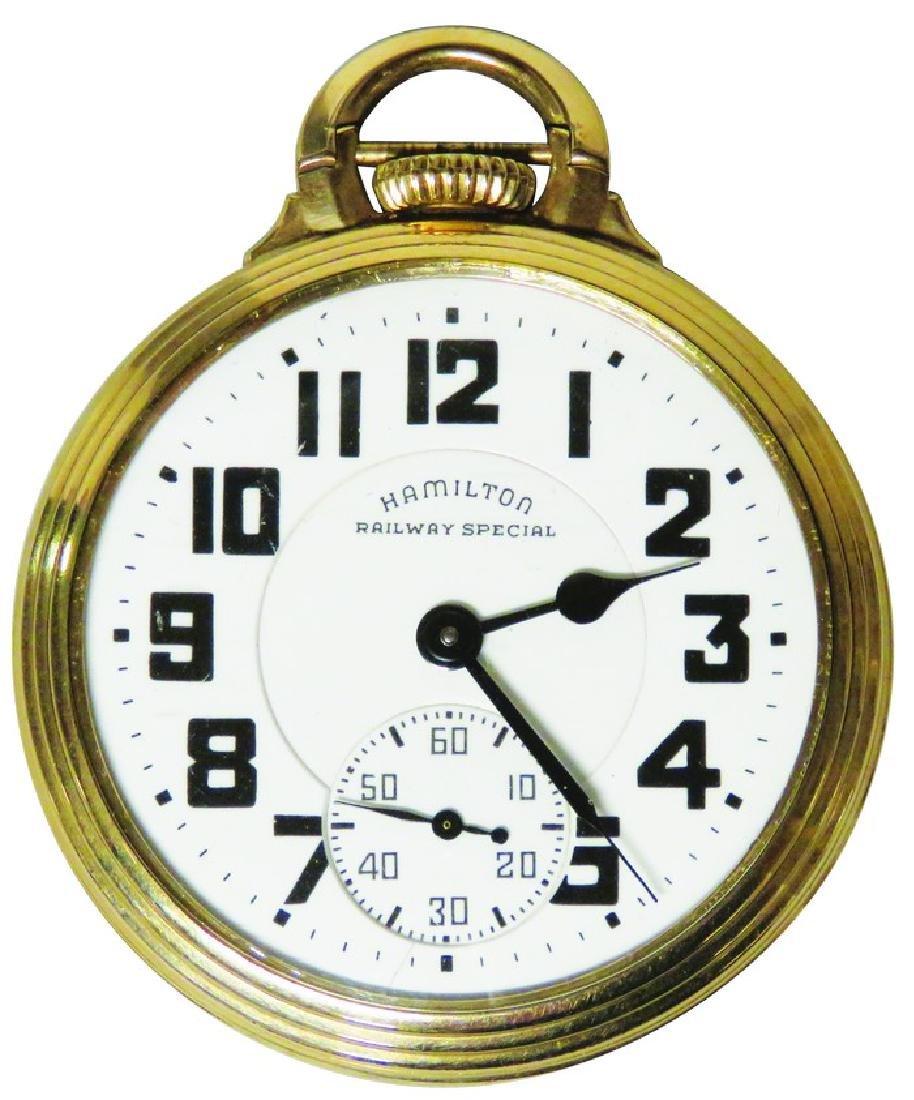 Hamilton Watch Co. Railway Pocket Watch