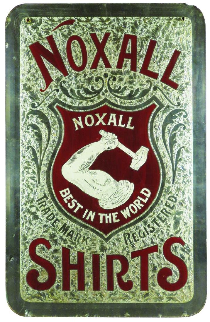 Noxall Shirts Reverse Glass Sign