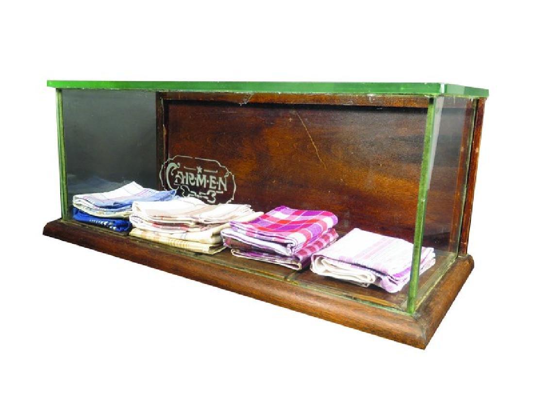 Carmen Handkerchiefs Etched Glass Display Case