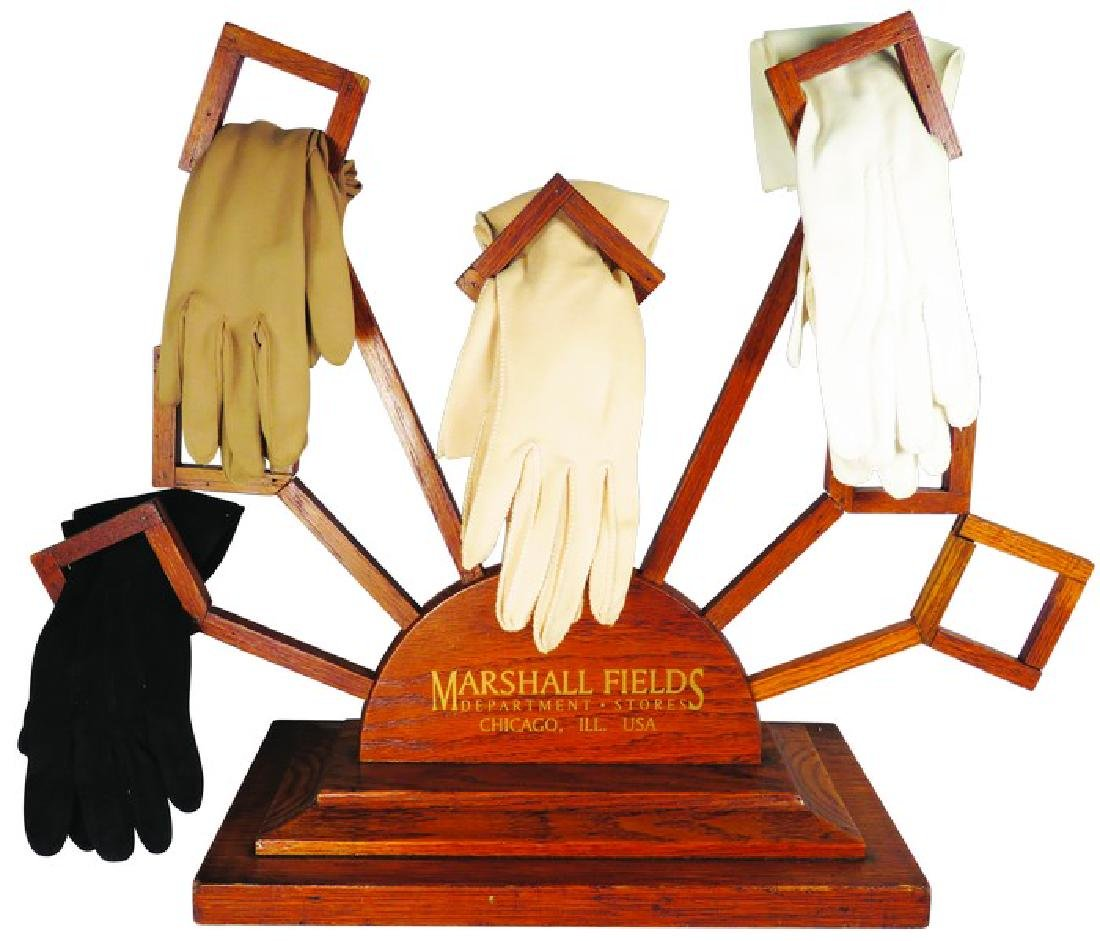 Wood Millinery Store Display for Gloves