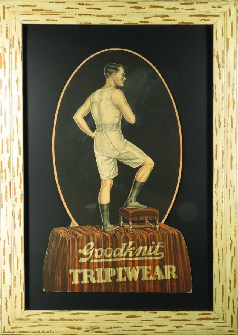 Goodknit Triplwear Die Cut Store Display Sign