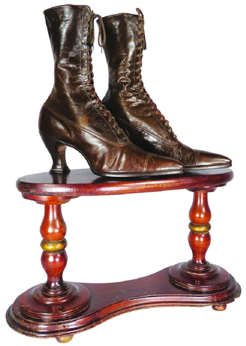 Wood Shoe Store Display Stand