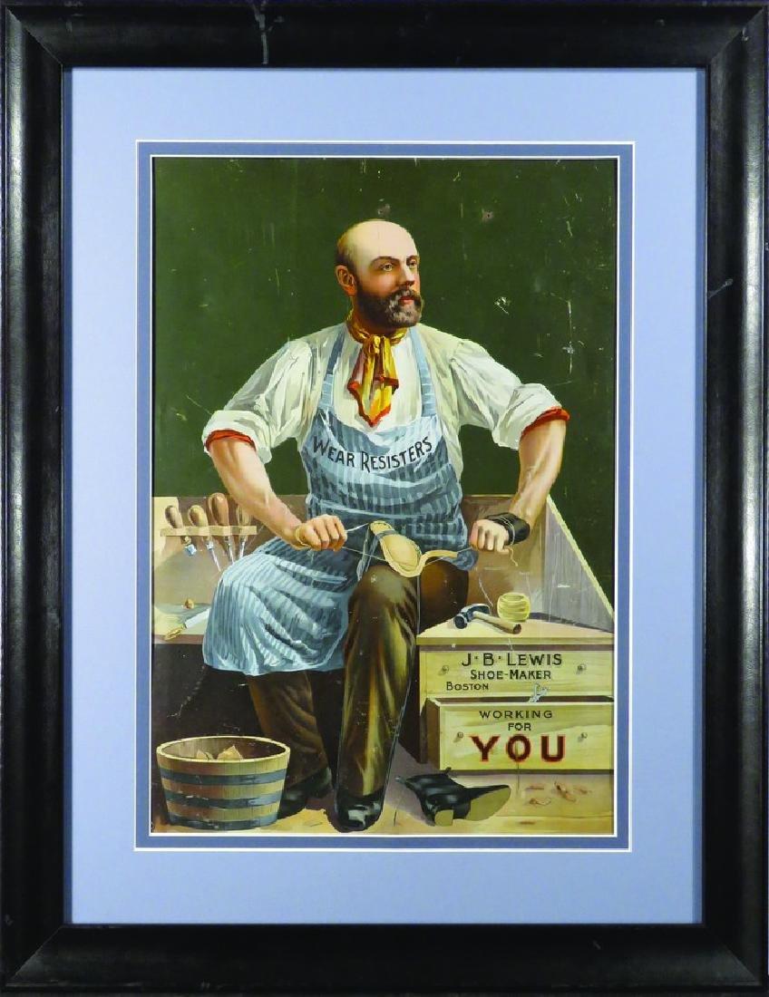 J.B. Lewis Shoe-Maker Tin Sign