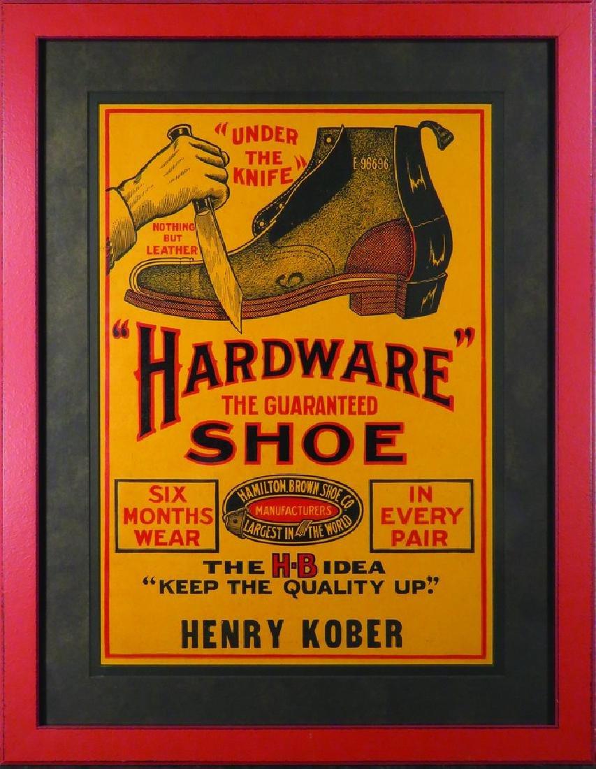 "Hamilton Brown Shoe Co. ""Hardware Shoe"" Sign"