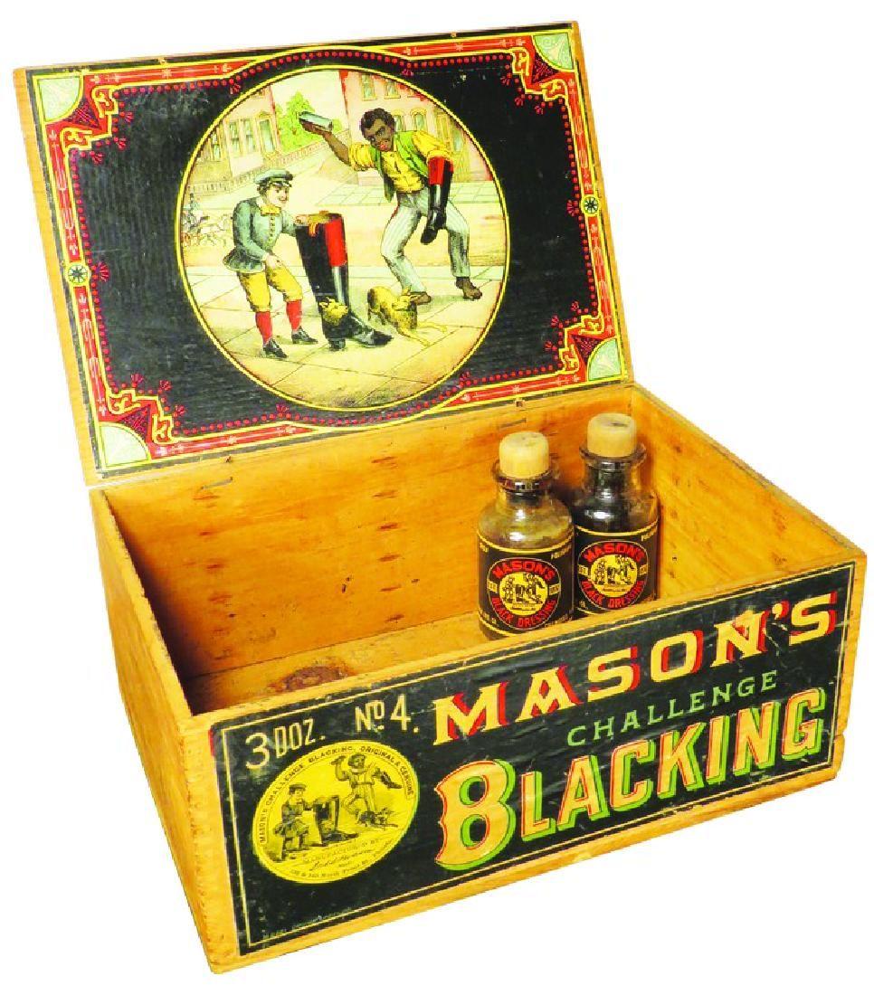 Mason's Challenge Blacking Store Display Crate