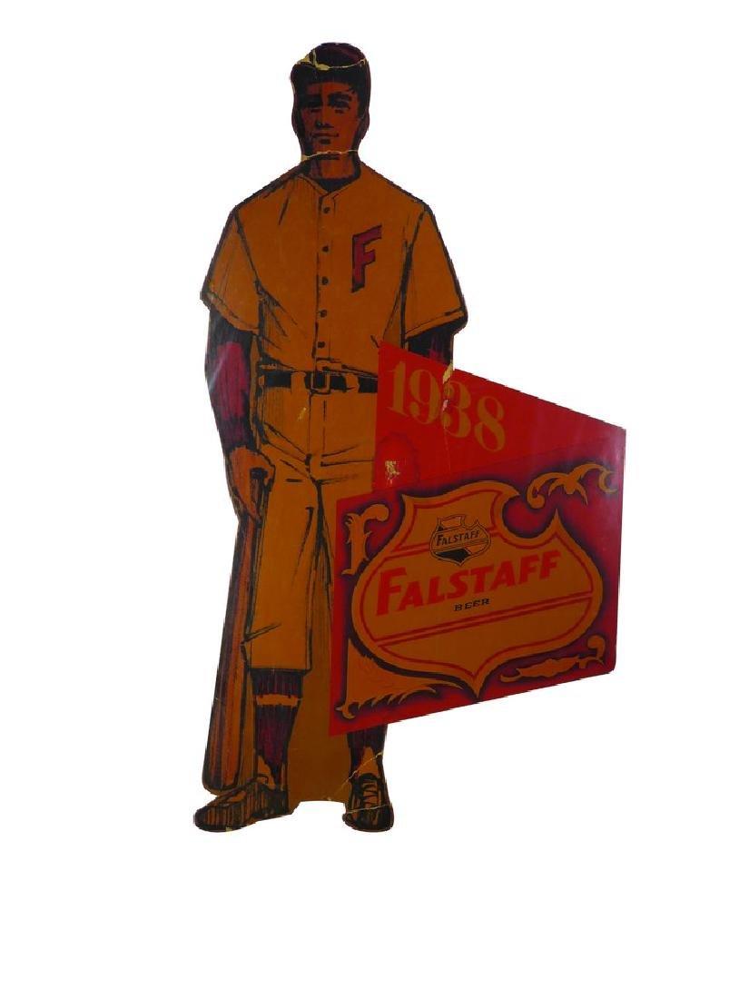 1938 Falstaff Beer Die Cut Cardboard Sign