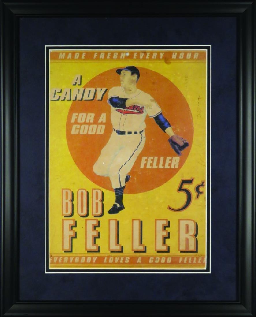 Bob Feller Candy Cardboard String Hanging Sign