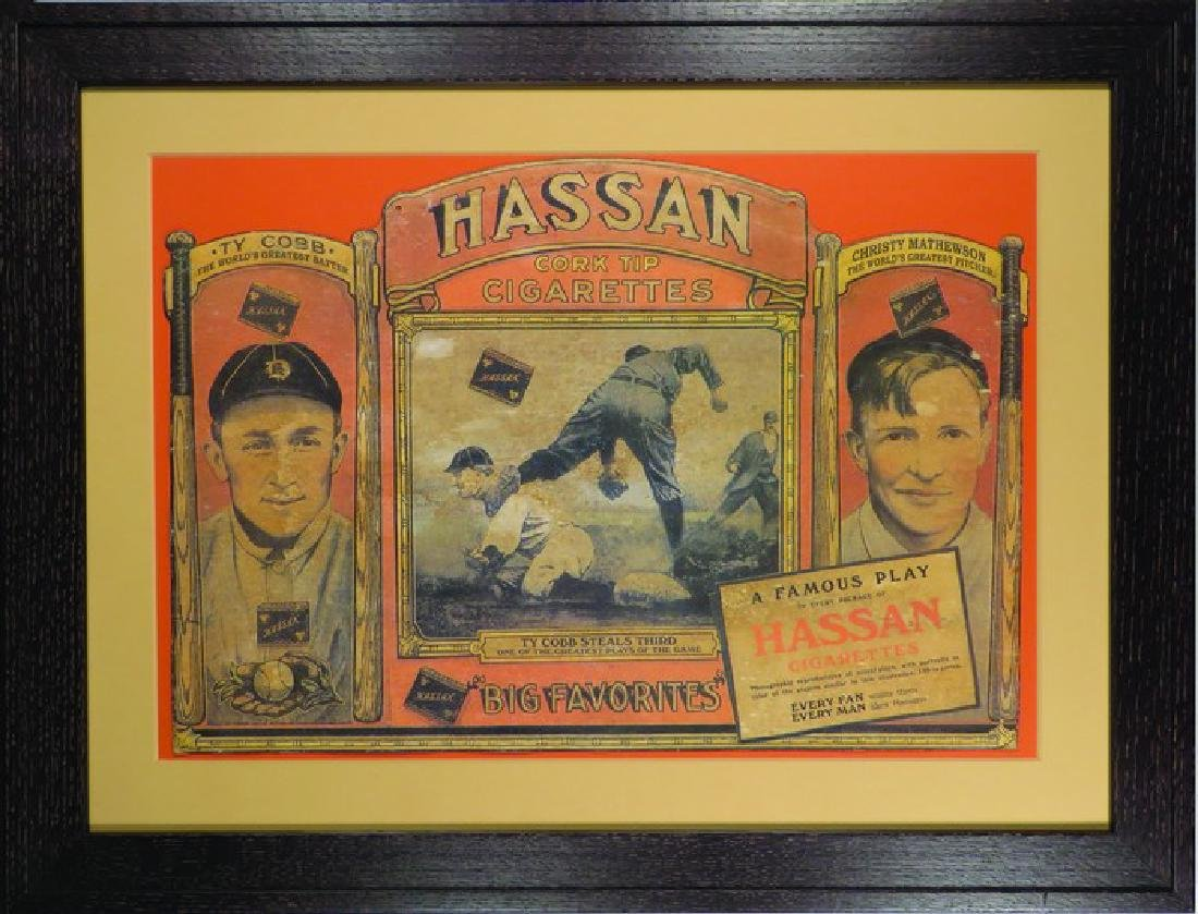 Hassan Cork Tip Cigarettes Baseball Player Sign