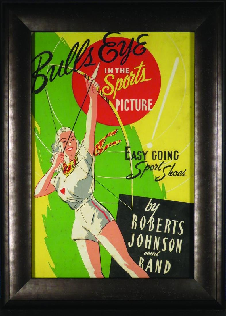 Bulls Eye in the Sports Picture Advertising Poster