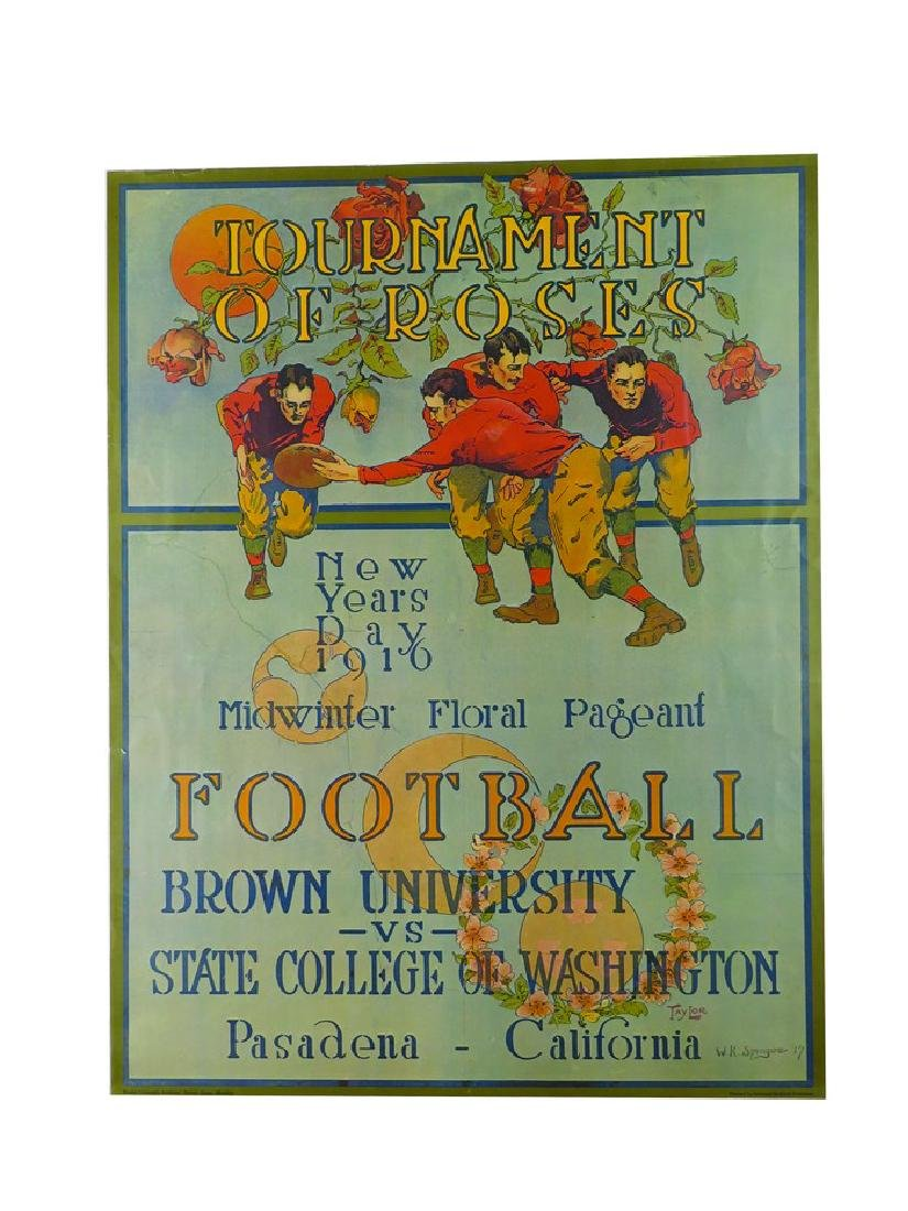 1916 Tournament of Roses Football Poster