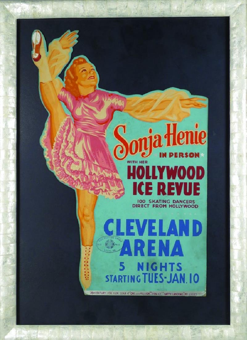 Sonja Henie Hollywood Ice Revue Poster