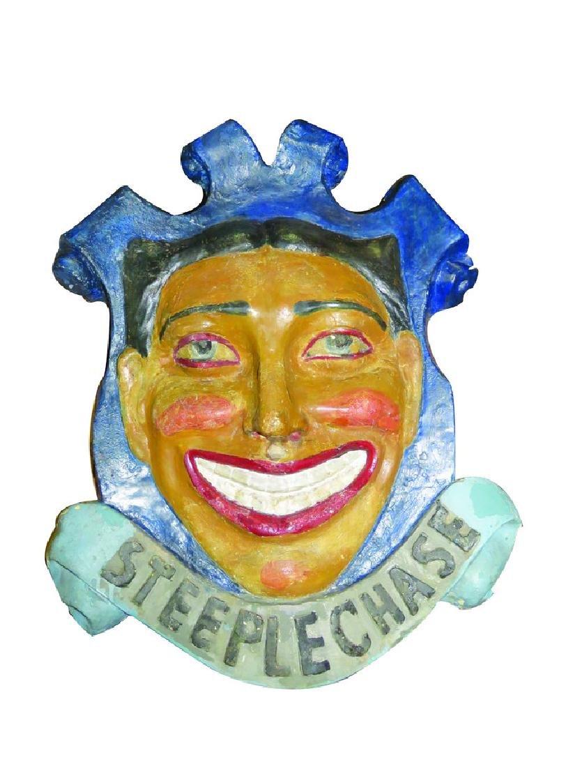 Steeplechase Carousel Clown Mascot Medallion