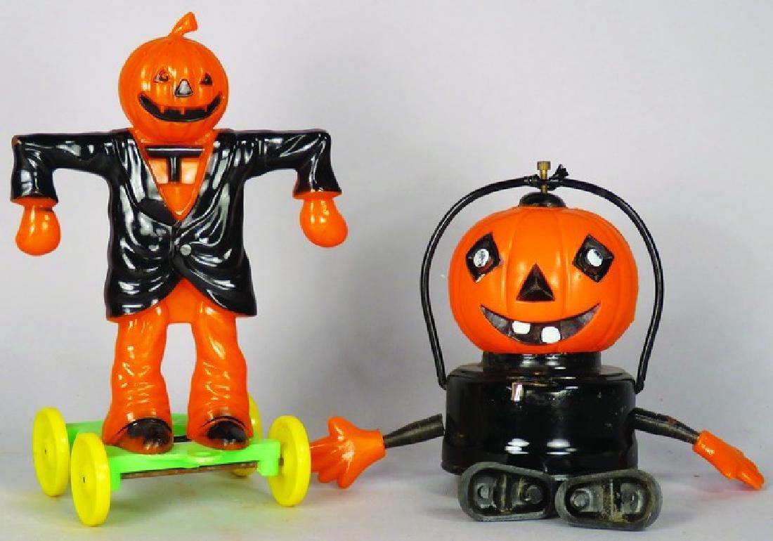 Two Vintage Plastic Halloween Toys