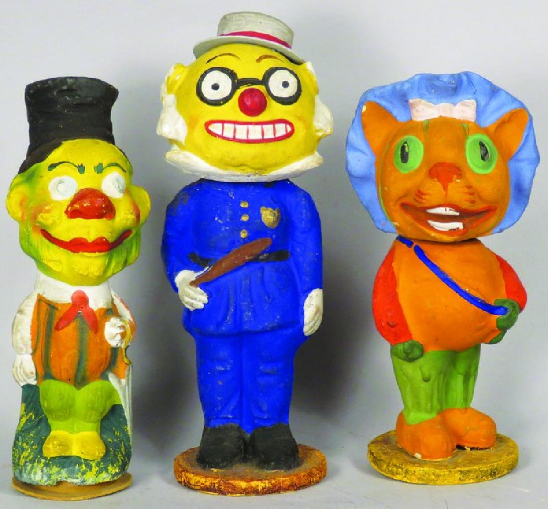 Vintage Paper Mache Figural Candy Containers