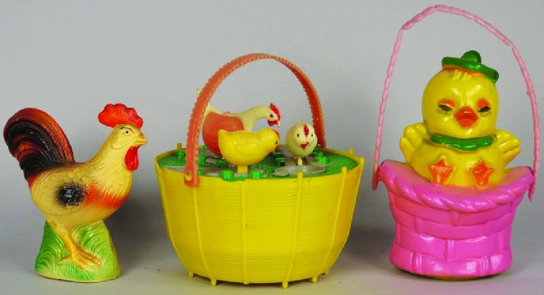 Three Vintage Easter Toys
